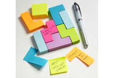 Very cool post-it note.  Block Sticky Notes    Cute Tetris-themed sticky notes will add some game-themed fun to your annotations.