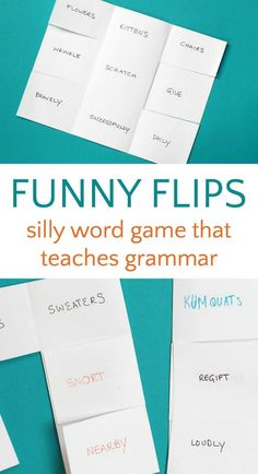 Fun word game to teach grammar. Great for the classroom or at home.