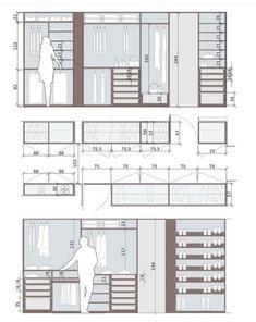 Standard Wardrobe Closet Design Guidelines - Engineering Discoveries Wardrobe Door Designs, Wardrobe Design Bedroom, Bedroom Furniture Design, Closet Bedroom, Closet Designs, Furniture Redo, Master Bedroom, Men Closet, Wardrobe Closet