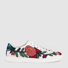 Ace Embroidered Sneakers by Gucci