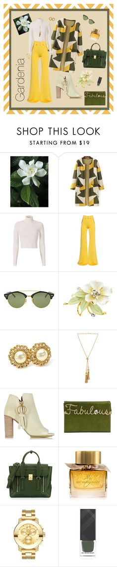 """""""Gardenia"""" by abelletobehold on Polyvore featuring A.L.C., Balmain, Ray-Ban, Chanel, Chloé, See by Chloé, Charlotte Olympia, 3.1 Phillip Lim, Burberry and Movado"""