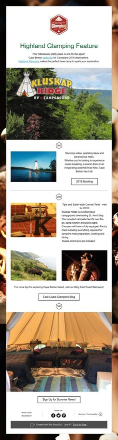 Highland GlampingFeature Cape Breton, Glamping, Explore, Places, Summer, Summer Time, Go Glamping, Lugares, Exploring