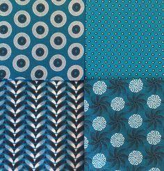 Fabric Bundle - Fat Quarters - Shweshwe - Turquoise and Black - Cotton - Fabric Swatches - pre-washed African Fabric, Fat Quarters, Fabric Swatches, Black Cotton, Fabric Design, Cotton Fabric, Delicate, Textiles, Turquoise
