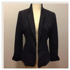 Dark Blue/Grey Wool Blazer  Dark blue/grey blazer very cute! Purchased from another posher but it's not getting any wear in my closet!  H&M Jackets & Coats Blazers