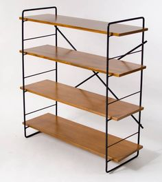 Henry Mittwer; Iron and Wood Shelves, c1952.