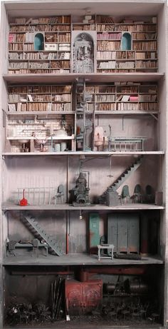 To know more about Marc Giai-Miniet Usine pour faire oublier, visit Sumally, a social network that gathers together all the wanted things in the world! Featuring over 10 other Marc Giai-Miniet items too! Vitrine Miniature, Miniature Rooms, Miniature Houses, Miniature Furniture, Dollhouse Dolls, Dollhouse Miniatures, Dollhouse Interiors, Dollhouse Ideas, Tiny World