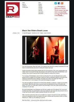 2013: Black Star Riders Break Loose - Deep Red Magazine