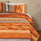Organic Bohemian Stripe Bedding - Gaiam <p>Quilted bedding with a bohemian twist</p>