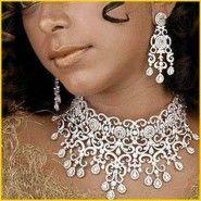 Diamond Wedding Necklace Indian Designs