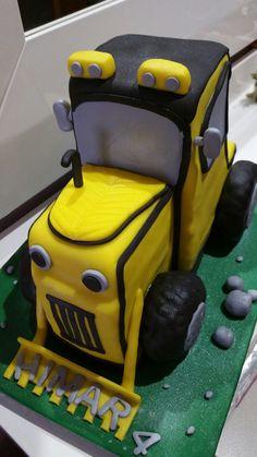 Tarta tractor creada por MyA Sweets Factory