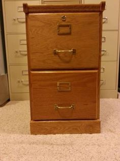 We are selling a gorgeous, solid wood file cabinet. It is a ...