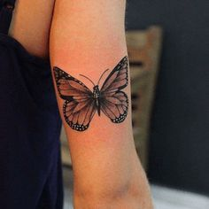 Butterfly Tattoo Ideas You Will Love; Back Butterfly Tattoo; Monarch Butterfly Tattoo, Butterfly With Flowers Tattoo, Butterfly Tattoos For Women, Butterfly Tattoo Designs, Tattoo Designs For Women, Flower Tattoos, Butterfly Tattoo Meaning, Tattoo Floral, Simple Butterfly