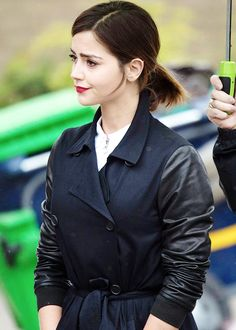 Jenna Coleman filming in Cardiff, Wales - 8 May 2015