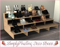 """simplypixeling: """" Deco Shoes Conversion TS3 to TS4 • 3 from @chisimi - Leather…"""