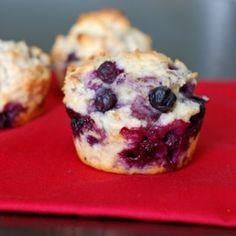 Blueberry muffins with Greek yogurt