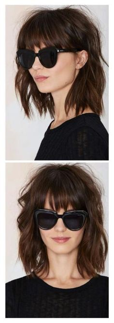 Messy lob with bangs by eloise