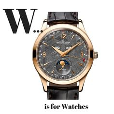 W... is for watches. One of our Top Ten for 2015 is the @jlcwatches Master Calendar Meteorite #jaegerlecoultre #luxurywatch #swisswatch #style