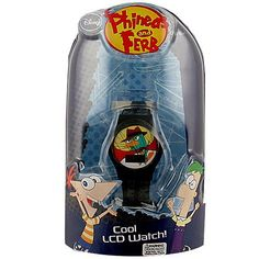 Phineas and Ferb LCD Watch [Black Strap]