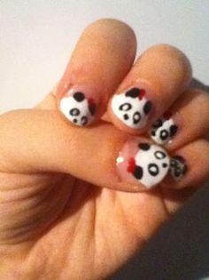 Panda nails!! <3