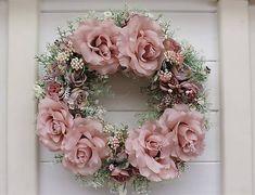 Clarah / Jarný veniec s ružami Floral Wreath, Wreaths, Home Decor, Garlands, Flower Crowns, Door Wreaths, Deco Mesh Wreaths, Interior Design, Home Interiors