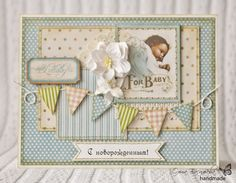 Scrap story ...: Открытка для новорожденного