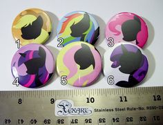 My Little Pony FIM Pinback Buttons Friendship is Magic  1 by Xexus, $1.00