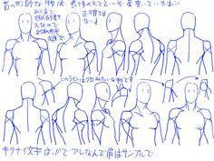 個人的男性首、肩の描き方。 [8]