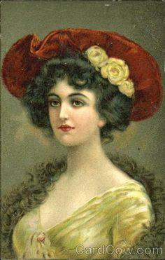 Woman Wearing Hat Series 115