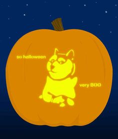 17. Doge - submitted by doglover3462014 | 18 Insanely Clever Pop Culture Stencils To Up Your Pumpkin Carving Game
