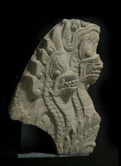 Architectural element with three-headed mythical serpent  Place of Origin:Vietnam, Binh Dinh province, former kingdom of Champa  Date:approx. 1150-1300  Materials:Stone  Style or Ware:Cham