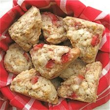 Strawberries & Cream Scones: King Arthur Flour, blog has illustrations on using their mini scone pan as well