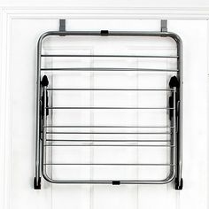 Samsonite® Deluxe Over the Door Folding Steel Dryer Rack. brilliant idea for saving space. I saw a cool one at Target too, but I can't find it online. Laundry Doors, Laundry Area, Do It Yourself Organization, Clothes Drying Racks, The Doors, Compact Living, Steel Rod, Door Storage, Gold Wood
