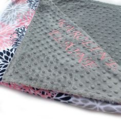 Personalized Baby Blanket For Girl / Coral Minky Baby Blanket