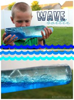 How to make a homemade wave bottle with kids!                                                                                                                                                                                 More