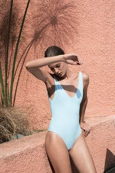Tuyen Nguyen and Michael Lim launched Her, a line of minimal one-pieces and bikinis. | @andwhatelse