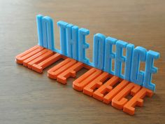 Desk Sign by Tosh - Thingiverse