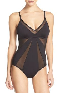 Free shipping and returns on Kenneth Cole New York 'Sheer Satisfaction' One-Piece Swimsuit at Nordstrom.com. Bands of peekaboo mesh vamp up the classic maillot silhouette of this adjustable-strap swimsuit.
