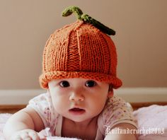 Pumpkin Hat by KnitAndCrochet2009 on Etsy, $21.00