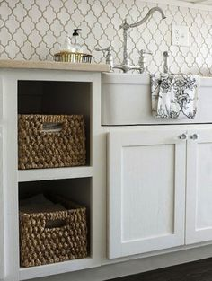 Love the storage and the backsplash