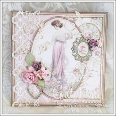 Mariannes papirverden.: Bursdagskort - Pion Design