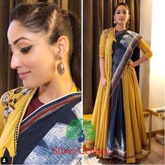 Best Saree draping styles images in 2019 Saree Wearing Styles, Saree Styles, Stylish Sarees, Stylish Dresses, Fashion Dresses, Look Fashion, Indian Fashion, Saree Jackets, Drape Sarees