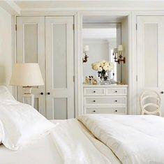 ideas bedroom storage white closet for 2019 Bedroom Built In Wardrobe, Bedroom Built Ins, Bedroom Closet Doors, Closet Built Ins, Bedroom Closet Design, Gray Bedroom, Trendy Bedroom, Bedroom Storage, Home Bedroom