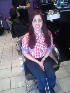 Salon Saturdays - Mommy and me day at the salon. Mom after a beautiful color and cut by Rania.