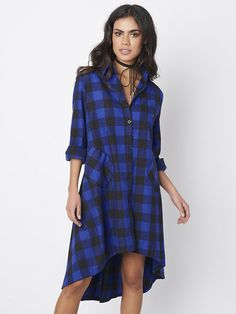 Aliexpress.com : Buy Red Plaid Shirt Dress Long Dresses In Cell