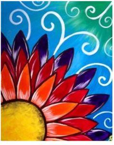 55 Easy Acrylic Painting Ideas on Canvas Cute Canvas Paintings, Easy Canvas Painting, Simple Acrylic Paintings, Diy Canvas Art, Easy Paintings, Diy Painting, Easy Flower Painting, Summer Painting, Flower Art