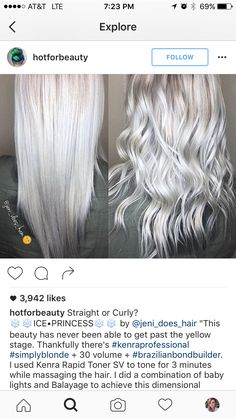 Ice Blonde, Silver Blonde, Blonde Color, Silver Hair, Blonde Hair, Platinum Blonde, Haircut And Color, Hair Color And Cut, Hair Color Formulas