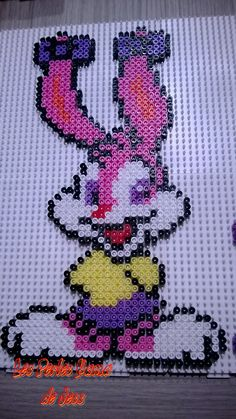 Babs Bunny Tiny Toons hama perler beads by Jessica Bartelet - Les perles Hama de Jess