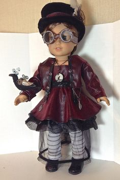 STEAMPUNK CHIC for American Girl or similar 18 inch doll