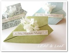 "wedding name cards / escort cards  ""Paper airplane"""