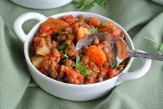 Lentil and potato hash. Vegan